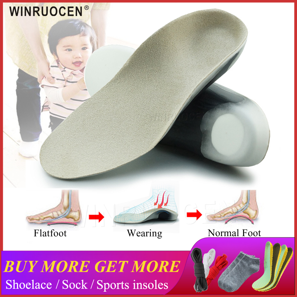 3D Orthotic Insoles Flat Feet For Kids And Children Arch Support Insole For X-Legs Orthotic Shoe Heel Pad Inserts