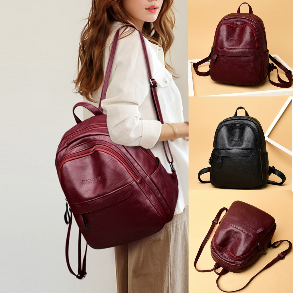 Fashion Women's  Outdoor Solid Color  Nylon Multi-Function Backpack Shoulder Bag 2020 Hot New Products Spot Supplier Dropshippin