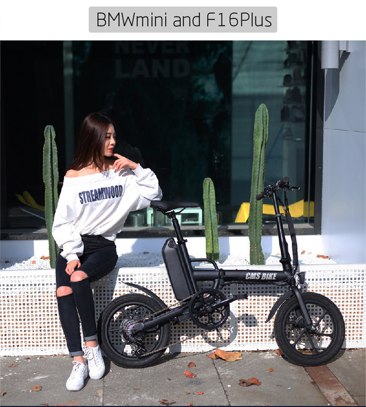 "16"" folding variable speed city folding ebike with aluminium alloy frame 5"