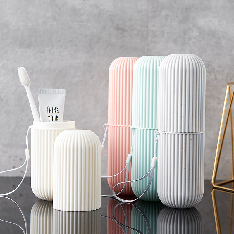 Outdoor Travel Toothbrush Cover Case Holder Portable Washing Cup Bathroom Tumblers Toothbrush Cup Tube Storage Box