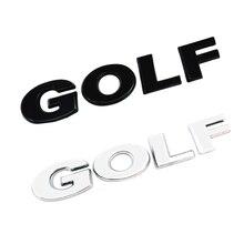 3D ABS GOLF черная серебряная хромированная наклейка Стайлинг автомобиля наклейка с буквами заднего багажника логотип наклейка или боковой зна...