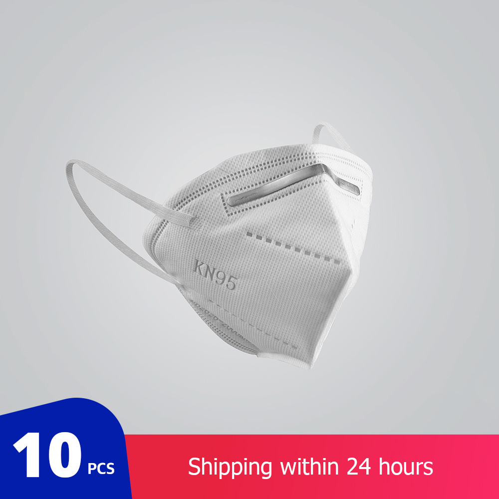 10 Pcs KN95 Face Masks Dust Respirator KN95 Masks Adaptable Against Pollution Breathable Mask