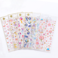 Gilding Sakura Heart Bullet Journal 3D Decorative Washi Stickers Scrapbooking Stick Label Diary Stationery Album Stickers sticker scrapbooking cute girls planner book cartoon washi tapes label diy diary bullet journal kids handbook deco stickers