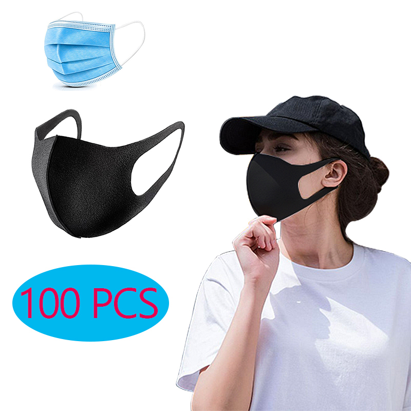 100 PCS Adult Face Mask Sponge Anti Dust Smoke Pollution PM2.5 Mascarillas With Washable Masks Alan Walker Mascherine