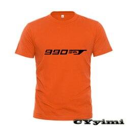 For KTM 990 SMT 990SMT 09 T Shirt Men New LOGO T-shirt 100% Cotton Summer Short Sleeve Round Neck Tees Male