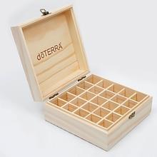 25 slots de madeira caixa de armazenamento 1pc carry organizador garrafas de óleo essencial aromaterapia recipiente caixa de armazenamento caso