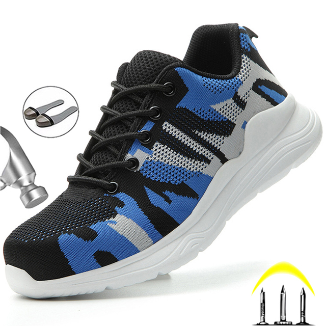 Camouflage Work Shoes -Indestructible Sneakers -1st Men Security Boots  2