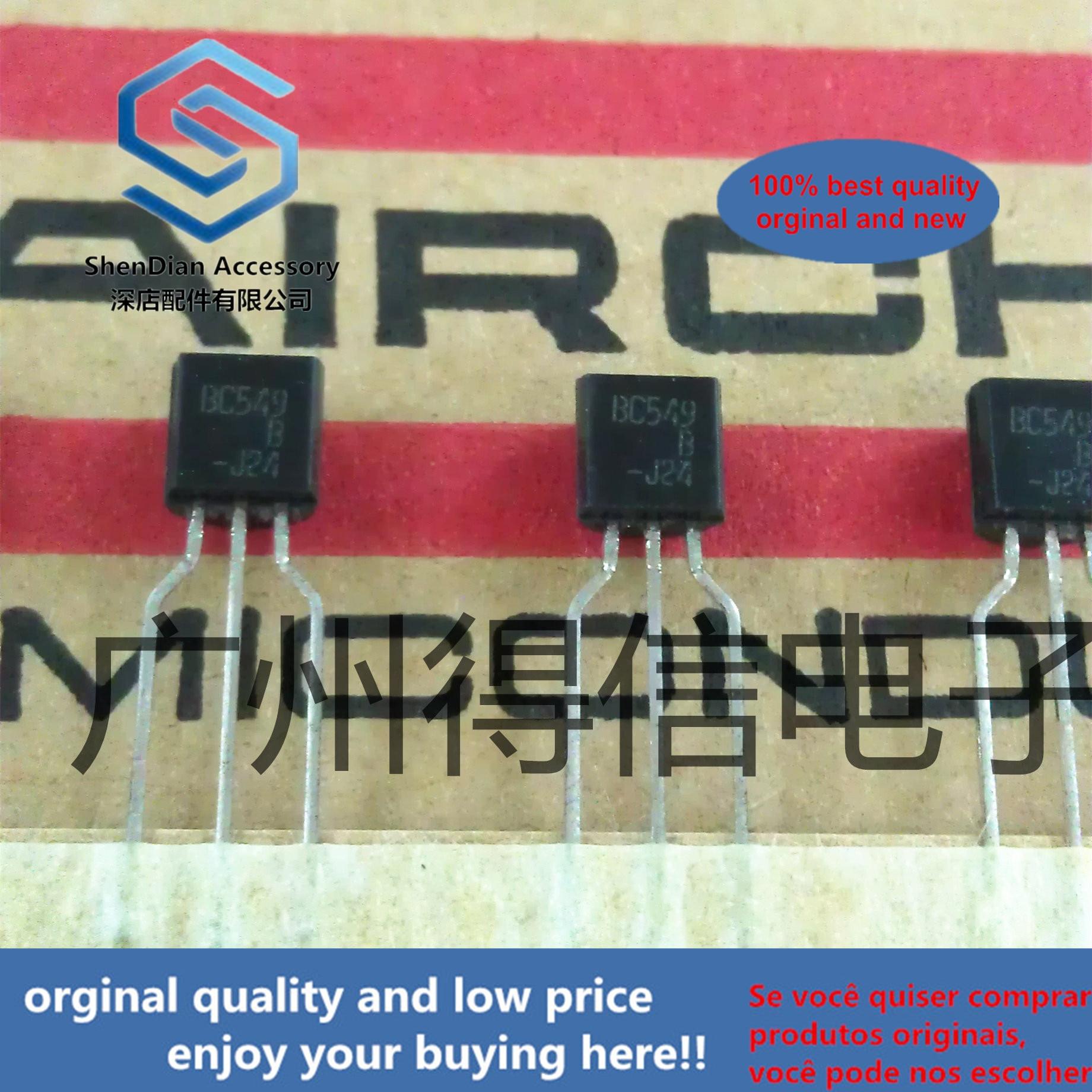 30pcs 100% Orginal New BC549B BC549 NPN Silicon Transistors TO-92 Real Photo