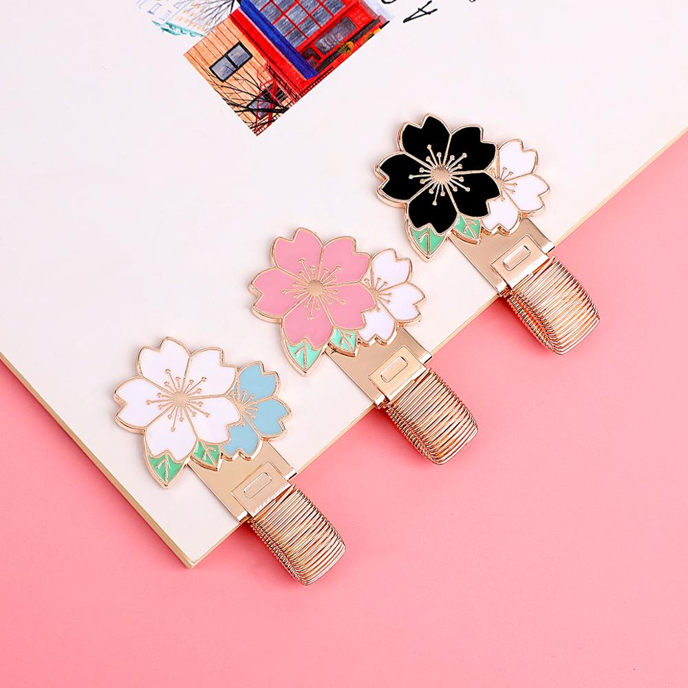 JIANWU Cute Metal Pen Holder Stainless Steel Pen Clip For Leather Travel Journals Handmade Notebook Diary Kawaii