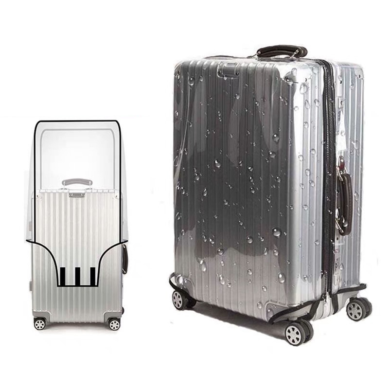1 Pcs Luggage Case Suitcase Protective Cover Transparent Cover 20 24 26 28 Dust Bag Case For Travel Suitcase Accessories