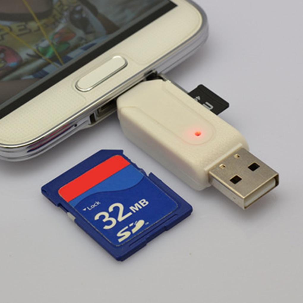 Cellphone Camera SD TF Mini SD SDHC Memory Card Micro USB USB 2.0 OTG Card Reader Adapter