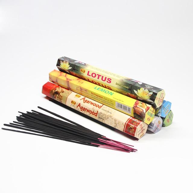 1 Box Tulip Flavors Tibetan Incense Sticks Indian Incense White Sage Flavor Sandalwood Incense Meditation Home Fragrance 2