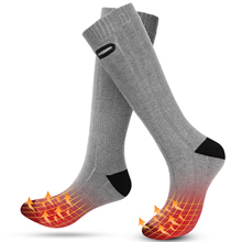 Stocking Heated-Socks Waterproof Warm Outdoor Rechargeable Winter Women Camping for Skiiing