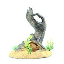 Decoraciones para pecera, estatua de mano de Buda, adornos para acuario PXPC