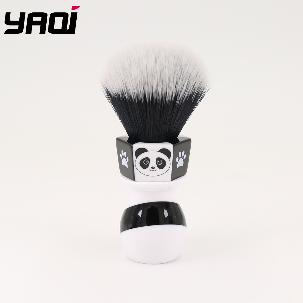 Yaqi 24mm The Panda Tuxedo Knot Shaving Brush By Henry Hakamaki