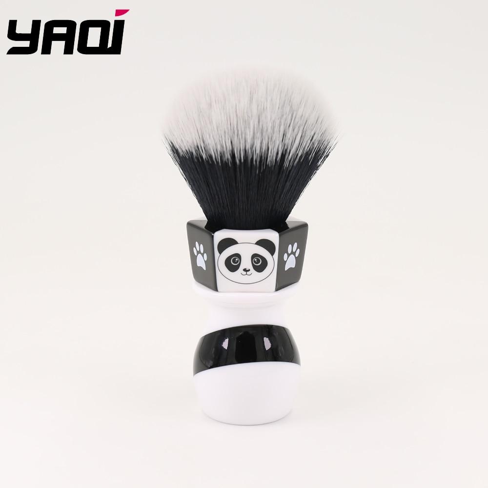 Yaqi 24mm The Panda Tuxedo Knot Shaving Brush By Henry Hakamaki
