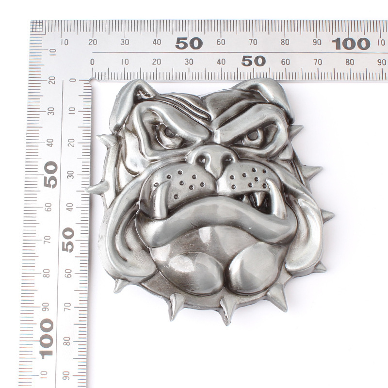 Bulldog belt buckle handmade homemade leash accessories belt DIY
