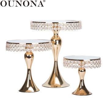 OUNONA 1PC Cupcake Display Stand Cake Dessert Display Holder Pedestal Wedding Birthday Party Dessert Cupcake Display Plate Rack white crystal metal cake stand set cupcake rack dessert display holder party wedding table decorations