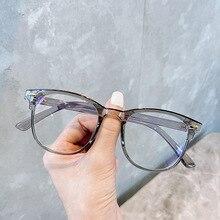 Transparent Computer Glasses Frame Women Men Anti Blue Light Round Eyewear Blocking Glasses Optical Spectacle Eyeglasses XWM1920