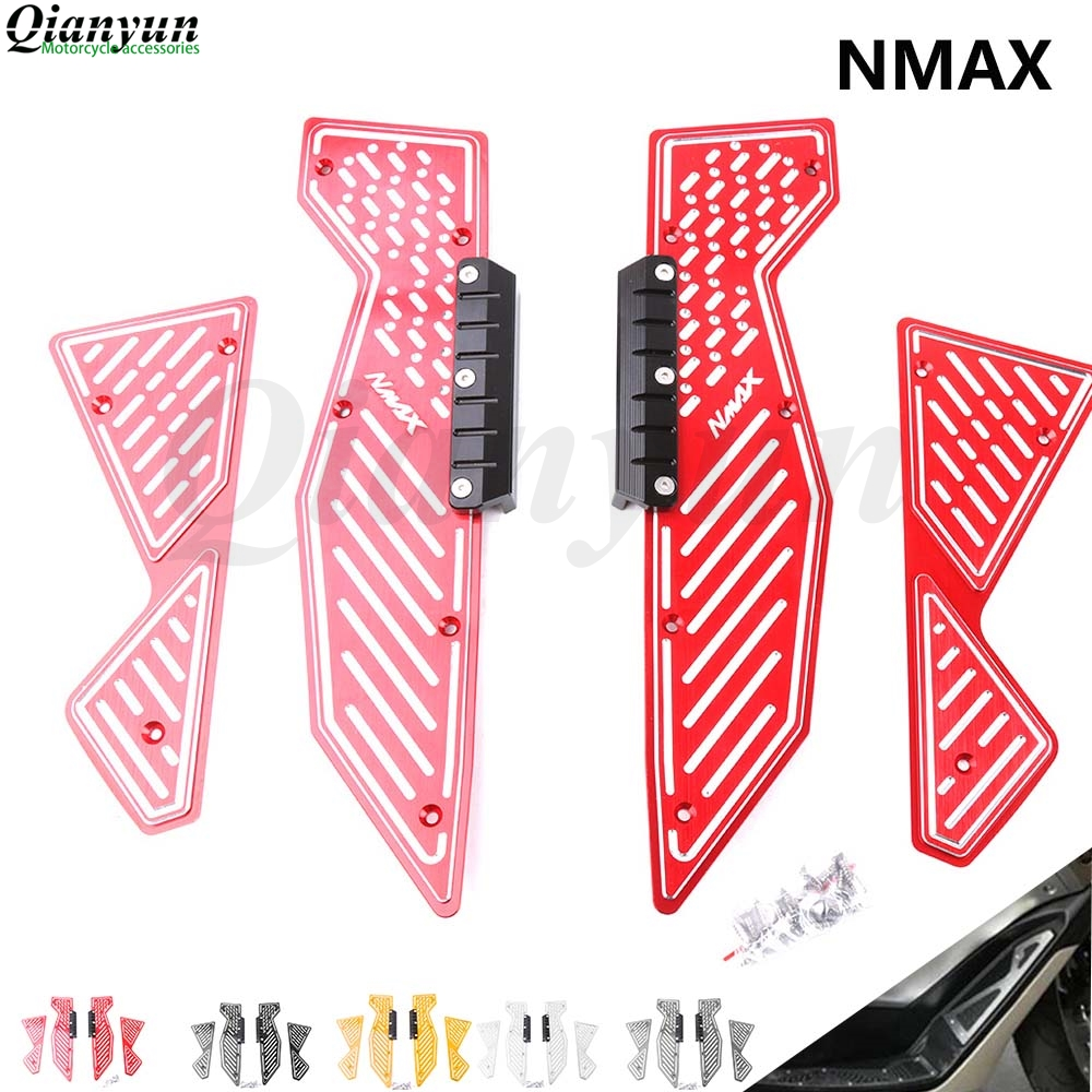 For YAMAHA NMAX N-MAX 155 125 NMAX125 NMAX155 N-MAX155 15-17 Footrest Pedal Scooter Front & Rear Footboard Steps Foot Plate