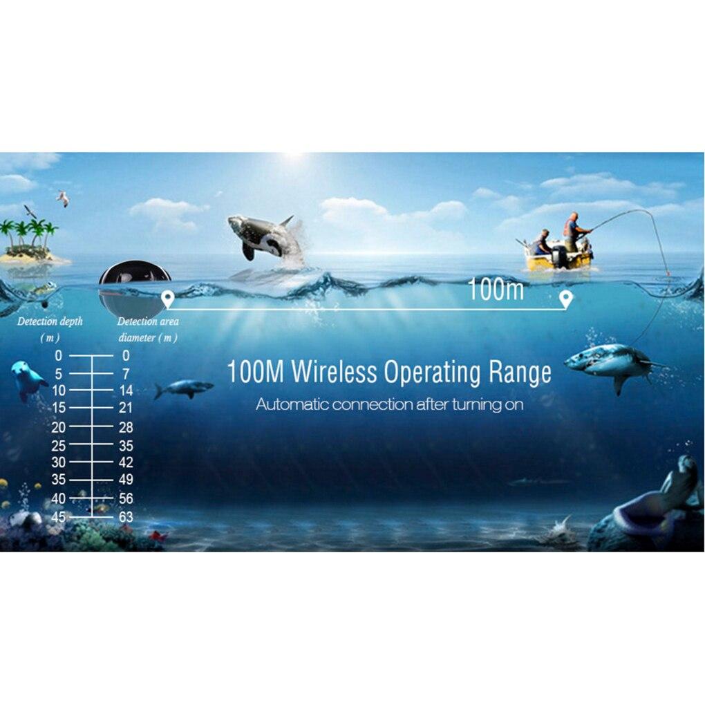 Tragbare Drahtlose Fishfinder fisch finder Fisch Alarm Tragbare Sonar sensor Angeln locken Echolot