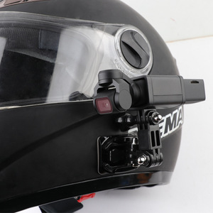 Image 4 - Capacete da motocicleta chapéu de montagem selfie vara braço titular & 3m base cola para dji osmo bolso/osmo bolso 2 cardan câmera acessórios