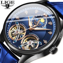 2020LIGE New Luxury Business Mechanical Wristwatch Top Brand Men Watche