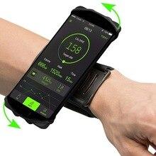 Capa de telefone para corrida, capa esportiva para samsung s10 s9 s8 iphone x xs xr xi 11 max pro pulseira brassard suporte para celulares 6, 7, 8
