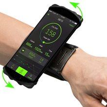 Correndo caso de telefone esporte na mão braçadeira para samsung s10 s9 s8 iphone x xs xr 12 11 pro max 6 7 8 suporte do telefone brassard braço banda