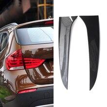 1คู่พลาสติกด้านหลังด้านข้างสำหรับ BMW E84 X1 2009 2015คาร์บอนไฟเบอร์สปอยเลอร์ปีกอุปกรณ์เสริม