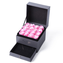 Купить с кэшбэком Second-tier Eternal Rose Jewelry Box Necklace Storage Box Ladies Valentine's Day Gift Box Jewelry Boxes and Packaging
