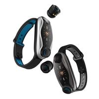 T90 Auricolare Bluetooth TWS auricolare Astuto Della Vigilanza Siri Bracciale Fitness Health Tracker Multi-Sport Della Vigilanza per il telefono gioco di musica