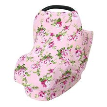 Cotton Baby Breastfeeding Towel Multi-function Safety Seat Cushion Shopping Cart Mat Floral Pattern Newborn Stroller Cover
