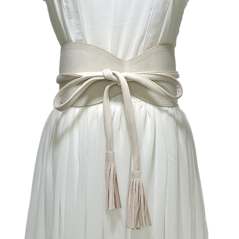 2020 New Fashion Irregular Bandage Tassel All-match Personality Cummerbunds Woman Clothing Accessories