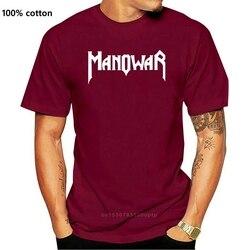 Men tshirt Short sleeve MANOWAR Unisex T Shirt One neck Women t-shirt