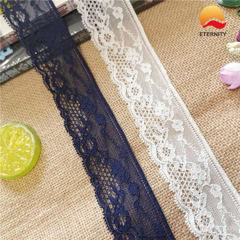 S1039-2 * Custom Bloemen Patroon Elastische Kleine Kant Zachte Mesh Spandex Georgie Royal Blauw Zwart Wit Sky Kant Vrouwen ondergoed