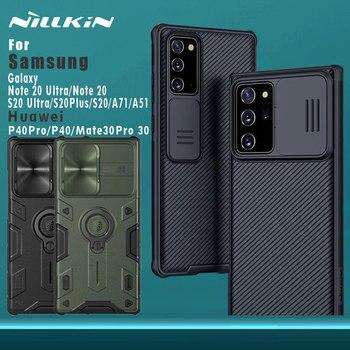 Di NILLKIN per Samsung Galaxy Note 20 Ultra S20 Ultra Plus A71 A51 5G Caso della copertura Posteriore di Protezione Della Fotocamera per huawei Mate 30 P40 Pro