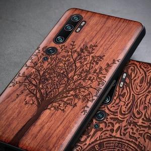 Image 2 - Phone Case For Xiaomi Mi Note 10 Pro Original Boogic Wood TPU Case For Xiaomi Mi Note10 Note 10 Pro Phone Accessories