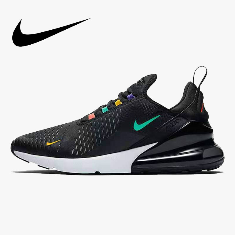 Original Nike Air Max 270 Men's Running Shoes Air Cushion Shoes Outdoor Sports Shoes 2019 New Breathable Elastic AH8050-023