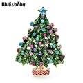 Wuli & baby зеленые эмалированные броши в виде дерева для женщин и мужчин, вечерние, повседневные, офисные броши, булавки, подарки