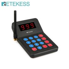 1 Pcs Keypad Transmitter For Retekess T119 Restaurant Pager Wireless Calling System For Restaurant Coffee Shop Church Clinic