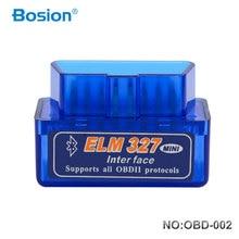 Bosion Elm327 V2.1 Bluetooth OBD2 סורק אבחון רכב Elm327 2.1 OBD 2 Elm 327 רכב אבחון כלי סריקה אוטומטית מתאם