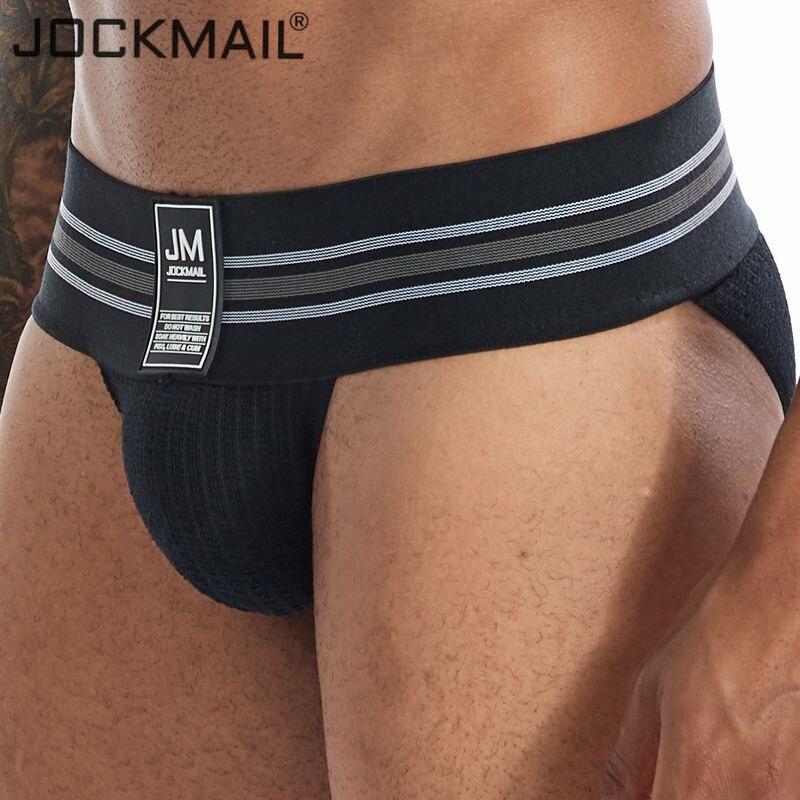 Jockmail New Brand Men Underwear Sexy Briefs Men Jockstrap Fashion Mens Briefs Cuecas Gay Underwear Penis Bikini Men Slip Homme