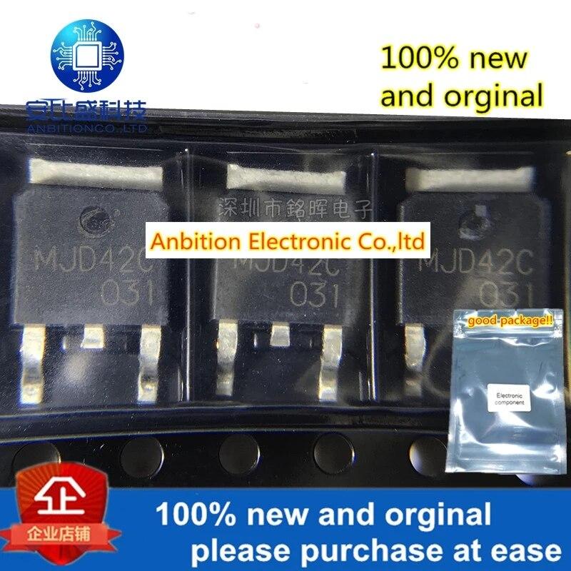10pcs 100% New And Orginal MJD42C MJD42 6A 100V PNP TO252 Darlington Transistor In Stock