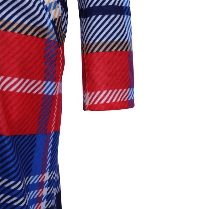 striped plaid lapels printed jackets 4