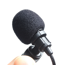 3.5mm Jack Lavalier Microphone Mini Portable Microphone Universial Clip On for Lecture Teaching Conference Guide Studio Mic