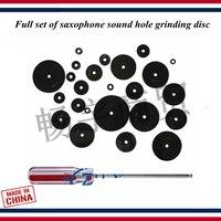 Wind instrument Saxophone TONE HOLE LEVELLING Maintenance Lapping tool Full set of saxophone sound hole grinding disc tool
