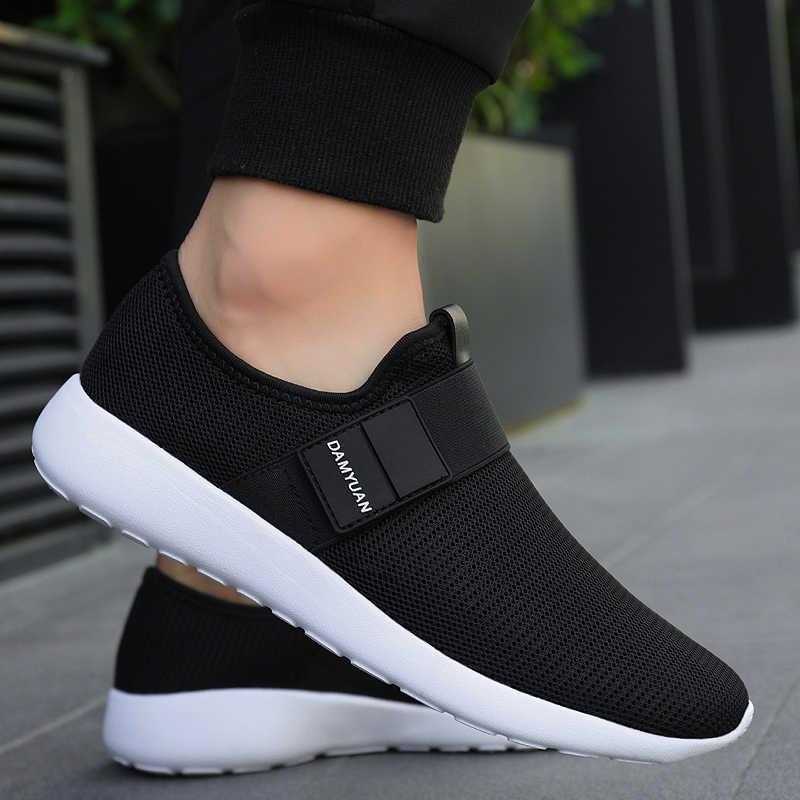 Damyuan 2019 ใหม่แฟชั่นฤดูใบไม้ร่วงรองเท้าผู้ชาย Flyweather Comfortables Keep อุ่นหนังวิ่งเบาฤดูหนาวรองเท้า