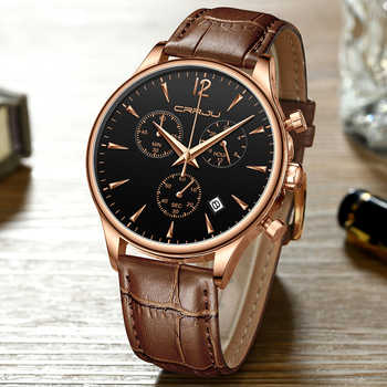 Mens Sports Watches Men Top Brand Luxury Leather Quartz Automatic Date Clock Male Army Military Waterproof Wrist Watch - DISCOUNT ITEM  90% OFF All Category