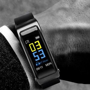 Image 3 - Çok fonksiyonlu 2 In 1 akıllı bilezik ile Bluetooth kulaklıklar kalp hızı monitörü su geçirmez izle açık spor uyku